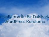 Installatron İle Bir Dakikada WordPress Kurulumu